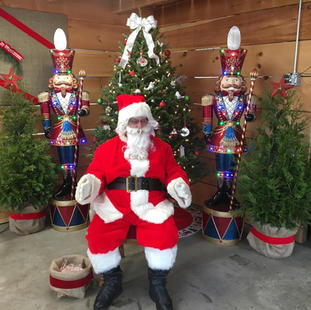 Santa Visits the Gade Farm