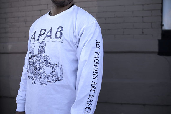 APAB (All Paladins Are Bastards) White Long Sleeve