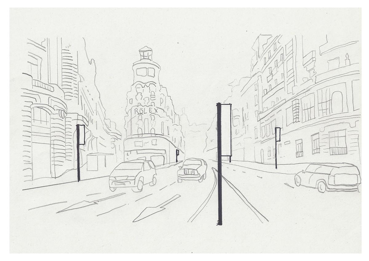 """The city is painting"" - Justine Suarez"