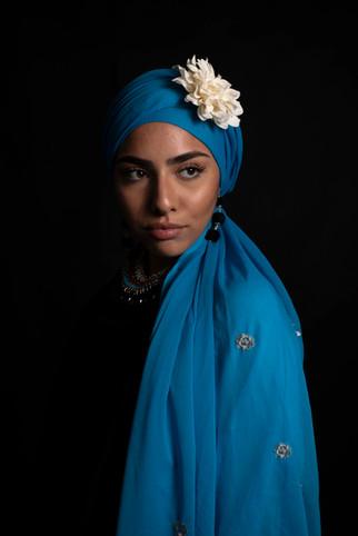8 juni 2020-504 Aya blauwe doek met bloe