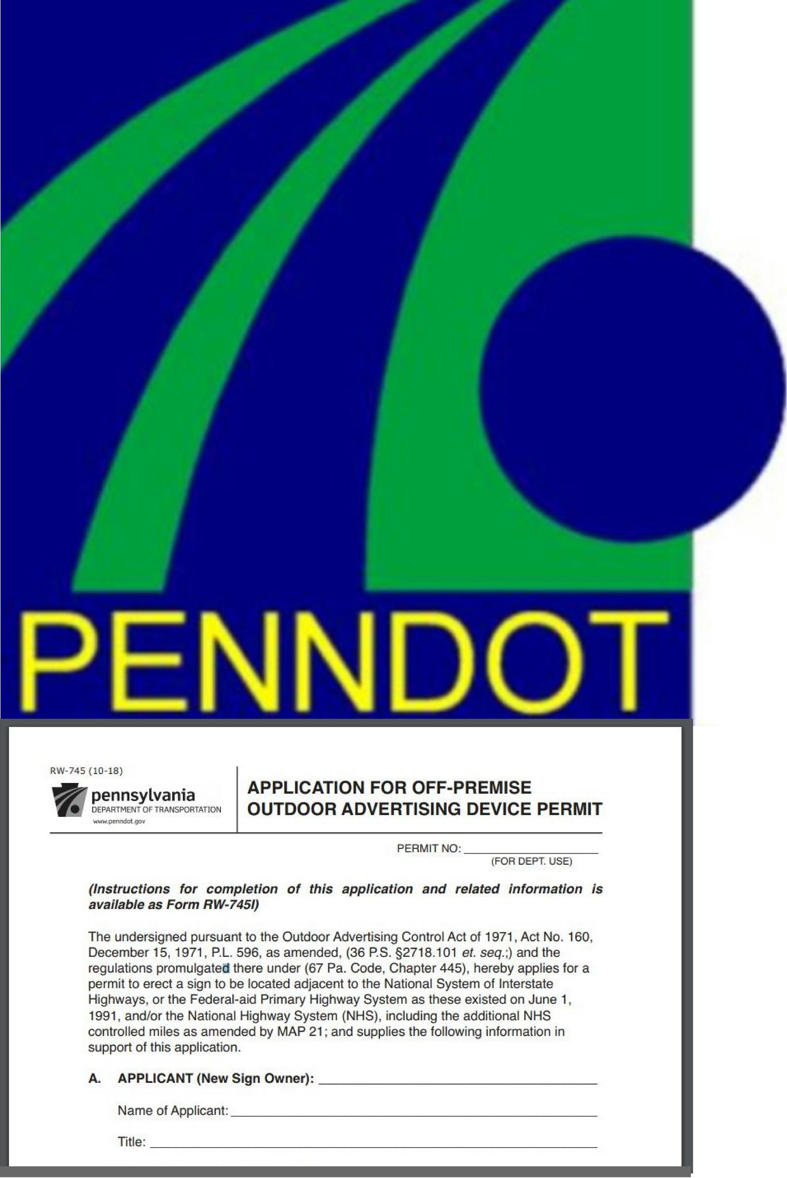 PennDot Off Premise Sign Permits