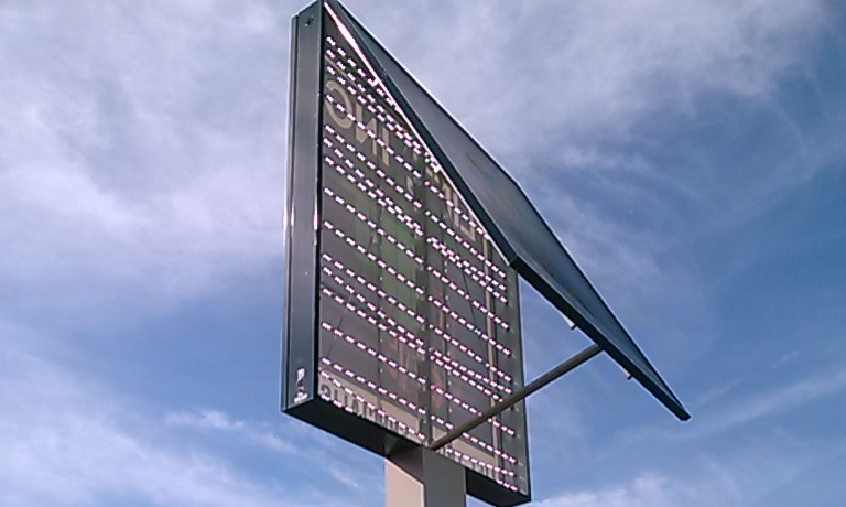 Large Pole Cabinet Sign Retrofit
