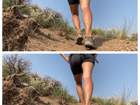 Sore calf muscles from hiking? Hinge at the hips and let the big muscles do the work!