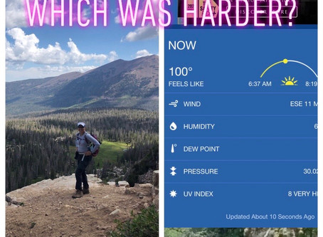 Which challenges hikers more, altitude or heat?