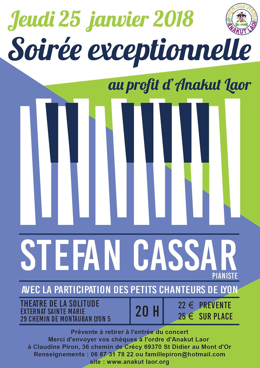 les Petits Chanteurs de Lyon prêteront leur voix en chantant Mozart et Gounod, et Stefan Cassar, pianiste, jouera Chopin, Beethoven et Ravel.