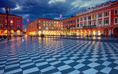 Place-Massena-Nice-France-night-building