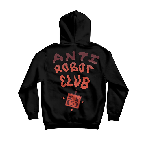 Anti- Robot Club Hoodie (Black/ Red)