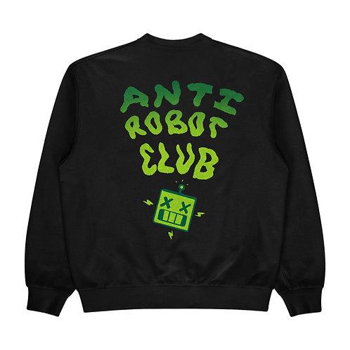Anti- Robot Club- Crew NeckSweater (Black/Green)