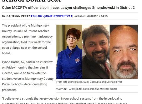 Lynne headlines Bethesda Magazine article on new candidates