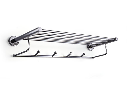 Ragatti stainless steel 4 towel tail hanger 600mm storage rack shelf - R01-6004P