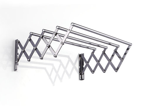 Flexi stainless steel collapsible four bar towel rail 620mm - F01-600P