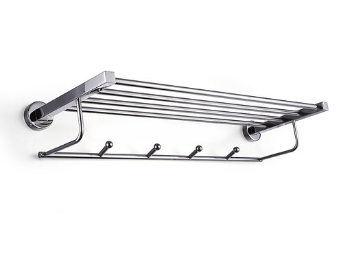 Supremo stainless steel four towel bar & hanger 600mm - S01-6004P