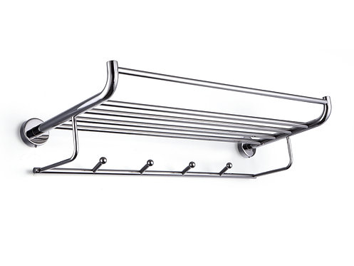 Ragatti bended five bar stainless steel towel rail & hanger 600mm - R05-6005P