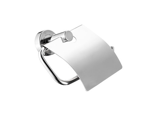 Ragatti stainless steel toilet roll holder with cover - R03-146P