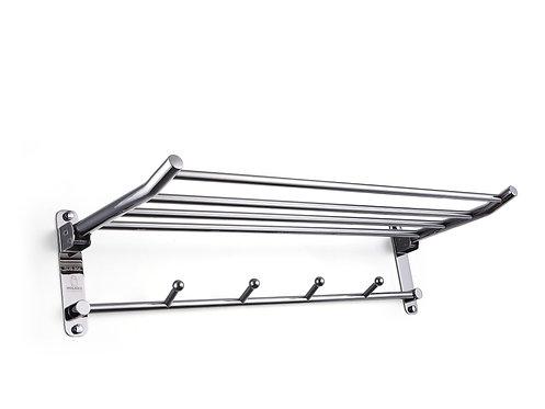 Ragatti stainless steel 4 towel rail hanger 600mm storage rack shelf - R07-6004P