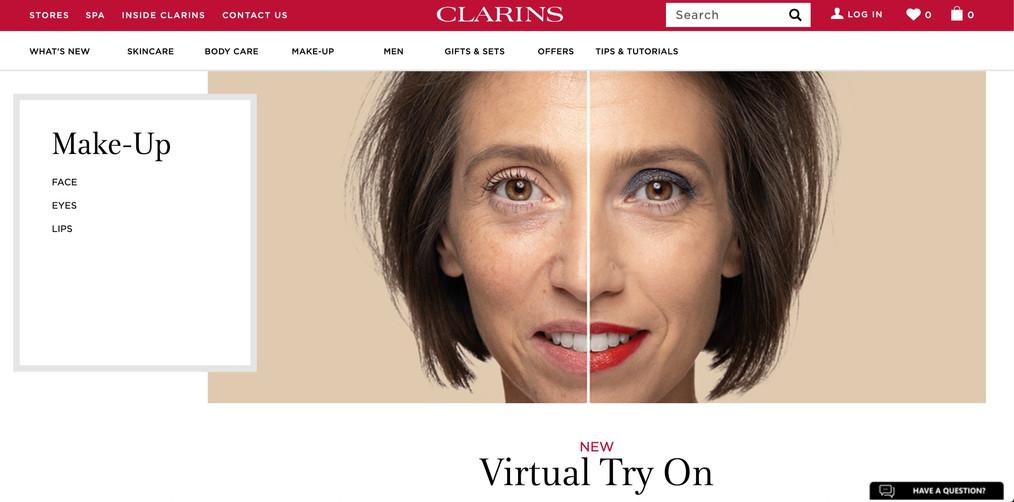 CLARINS WEBSITE