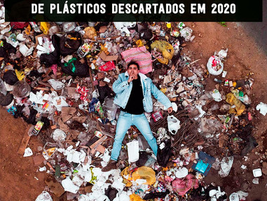 13,35 milhões de toneladas de plásticos descartados em 2020