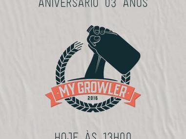Atitude 06: Venha comemorar conosco os três anos de My Growler!
