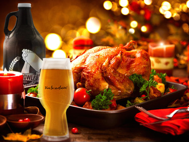 Uma ceia de Natal perfeita é com cerveja gelada!
