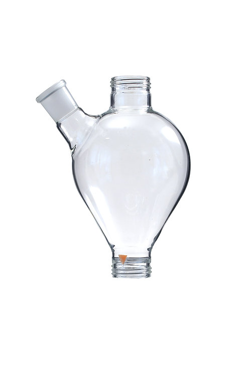 Glass vessel with side arm (approx. 1l)