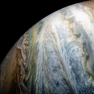 Jupiter's Colorful Cloud Belts