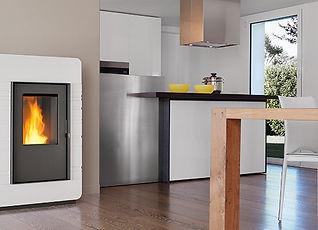 Piazzetta Pellet Heaters Australia P985TH Home hot water boiler heating