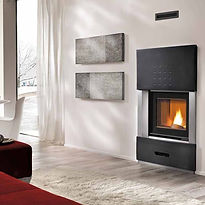 IP 78/68 Piazzetta Pellet Heater replacement for wood fireplace