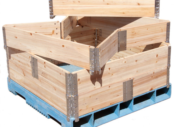 Pallet Collar Centre Hinge Softwood Wht