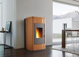 Piazzetta P988Th Thermal Pellet Heater in Terra d'Oriente