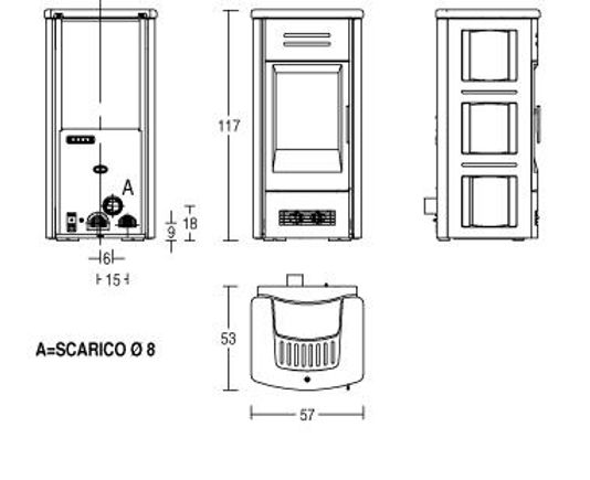 Piazzetta P963C Technical Drawing