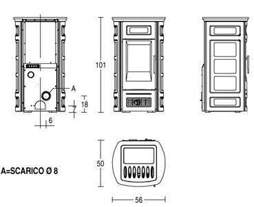 Piazzetta P958C Technical Drawing