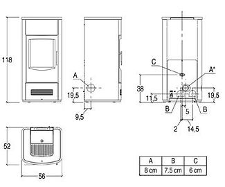 Piazzetta P936 Technical Drawing
