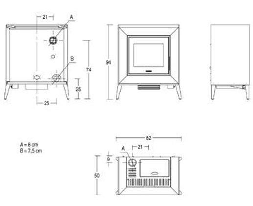 piazzetta line pellet heater - sy range sale now