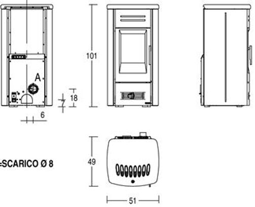 P958M Technical Drawing