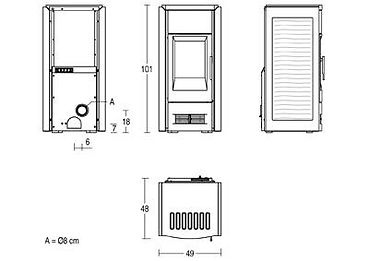 Piazzetta P958D Technical Drawing