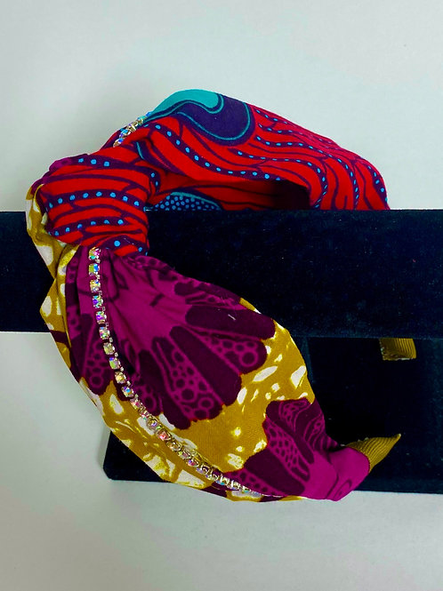Royal Culture Headbands (Style: Red Fledged/ Flower Pot)