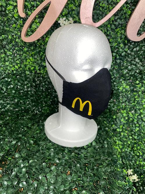 Black Mask w/ McDonalds Logo
