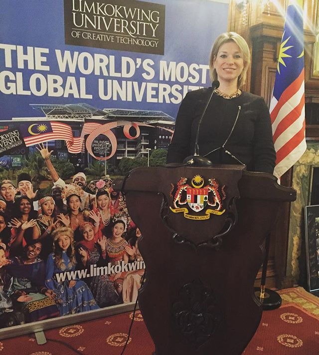 Privileged to be MC'ing at The High Commission of Malaysia this morning _limkokwinglondon #felda