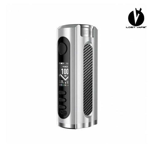 LOST VAPE Grus 100W Mod - Silver/Carbon Fiber
