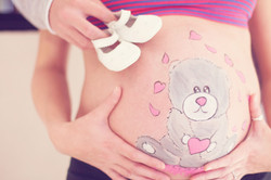 Belly painting peluche
