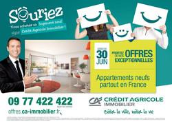 Affiche publicitaire CA Immobilier