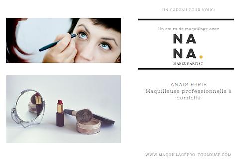 Bon cadeau pour un cours d'auto-maquillage de 1h (spécialisé teint ou yeux)