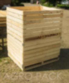 Деревянный контейнер яблочный