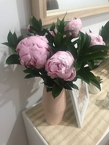 peony flowes for baby shower