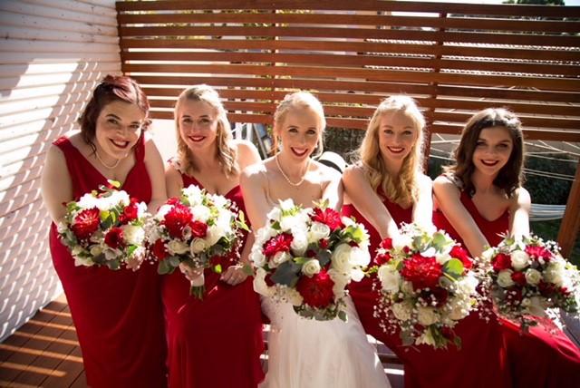 Sarah, Bridesmaids, Flowers