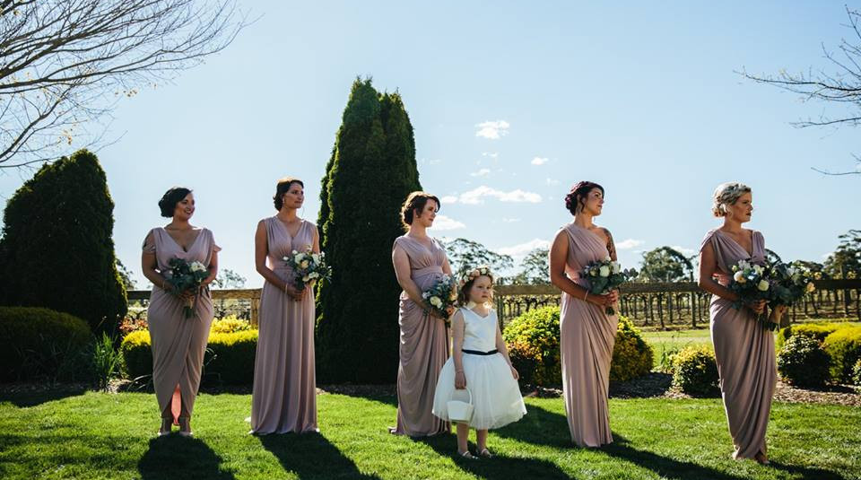 Emily with the Bridesmaids