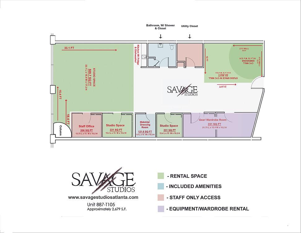 Savage Studios Floor Plan