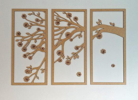 Blossom Branch Wall Panels