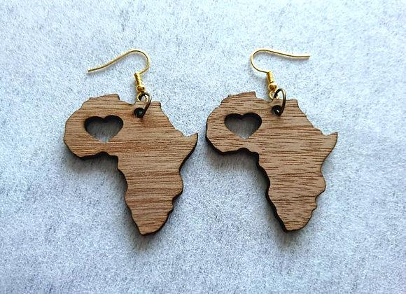 Love Africa Hanging Earrings