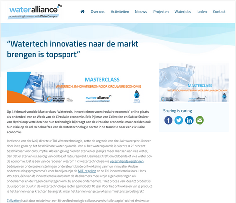 Article wateralliance.nl